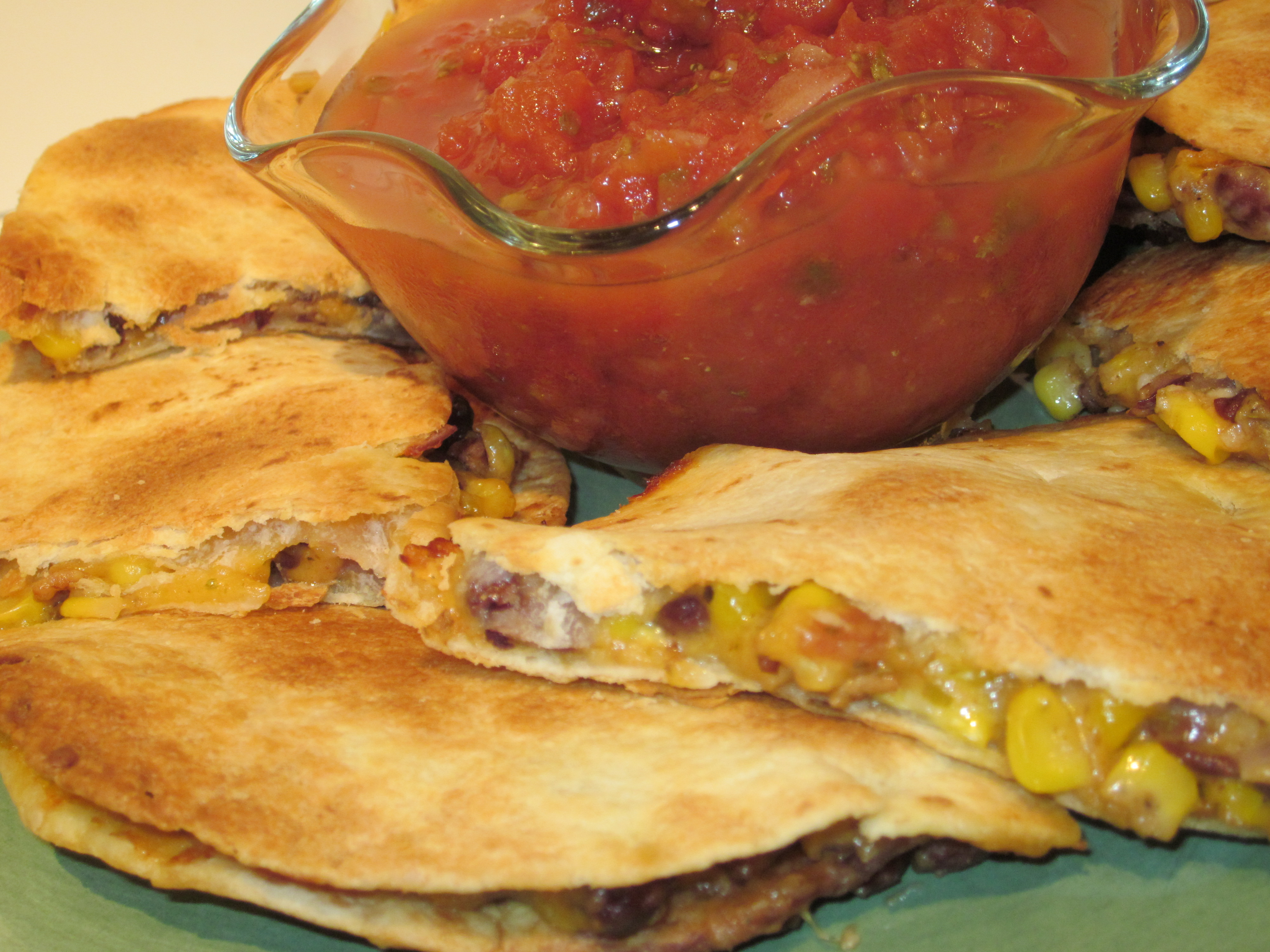 Black Bean, Corn and Bacon Quesadilla | This Girl's Gotta Eat!