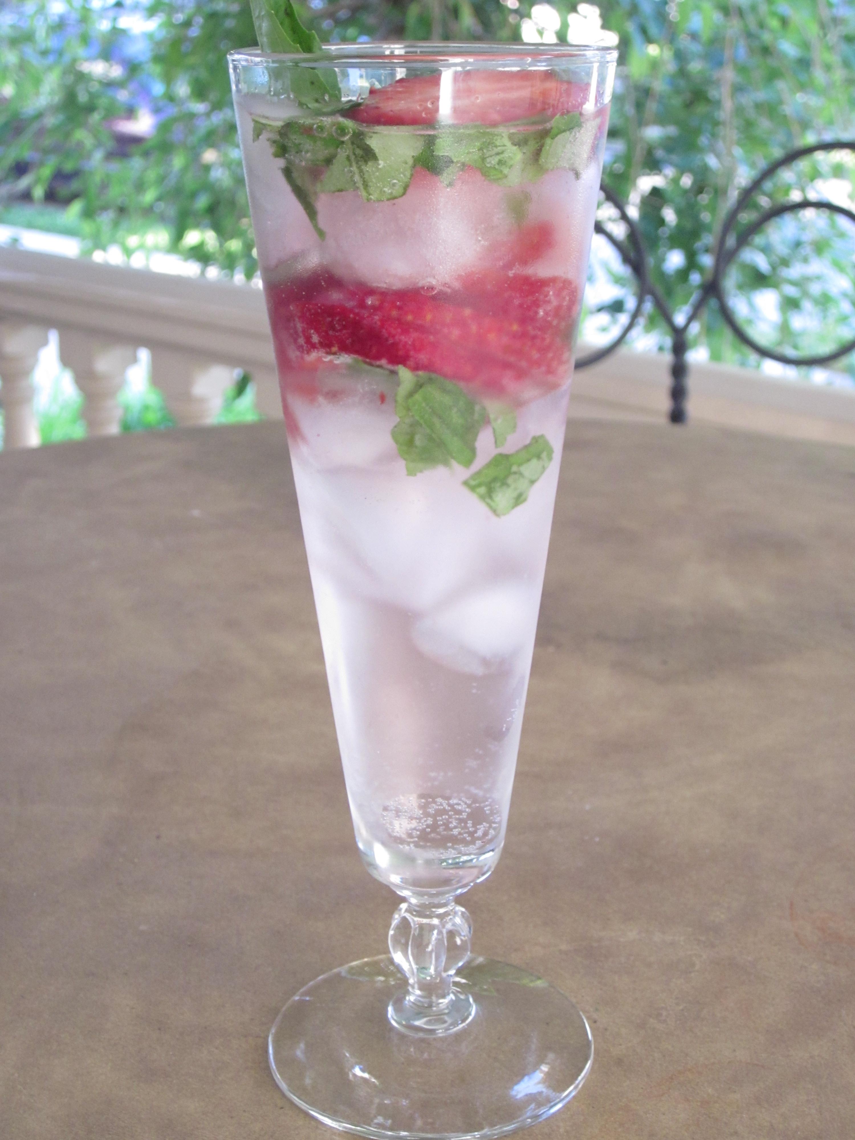 Strawberry Basil Sparkler   This Girl's Gotta Eat!