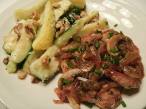 Garlic-Lemon Pork With Mushrooms and Onion
