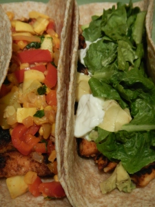 Blackened Tilapia and Chicken Tacos