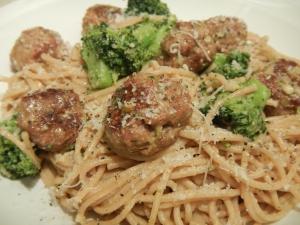 Pasta With Turkey Sausage Meatballs