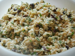 Barley Salad with Creamy Artichoke Dressing