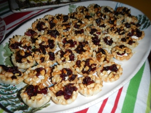 Baked Brie Cups with Craisins and Walnuts