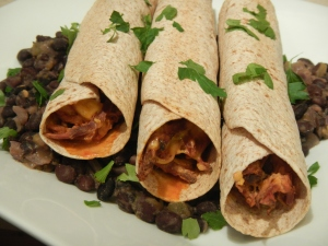 Baked Shredded Beef and Cheese Flautas