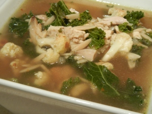 Lemon and Orzo Soup With Kale and Chicken (or Turkey)