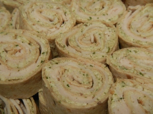 Turkey and Pesto Tortilla Pinwheels