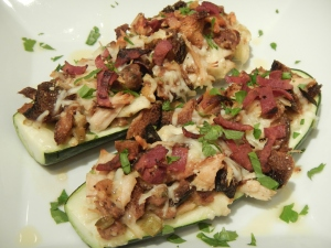 Zucchini Boats With Leftover Thanksgiving Stuffing