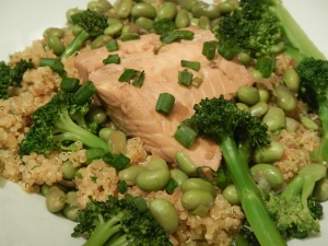 Green Tea Salmon With Quinoa