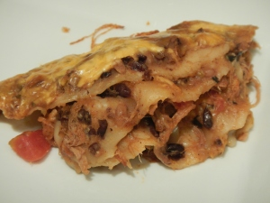 Mexican Wonton Lasagna With Pulled Pork