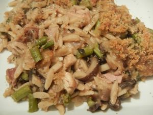 Turkey Tetrazzini with Orzo and Asparagus