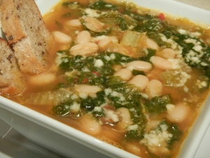 Zuppa di Scarola e Fagioli (Escarole and Bean Soup)