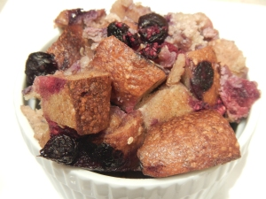 Bagel and Berry Bread Pudding