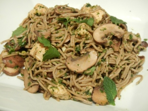 Soba Noodles With Shitakes and Chicken