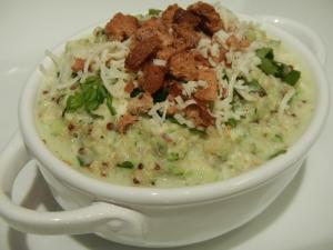 Asiago Zucchini-Quinoa Pilaf