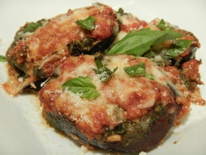 Baked Eggplant With Spinach and Olives