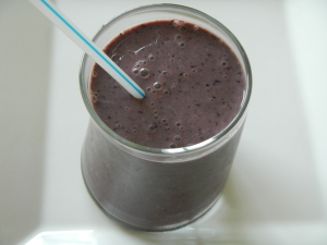 Blueberry Spinach Smoothie With Chia Seeds