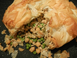 Curried Turkey and Chickpea Pie