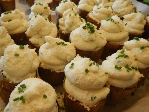 Twice-Baked Potatoes With Parmesan, Cream Cheese and Chives_Before