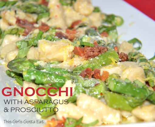 Gnocchi With Asparagus and Prosciutto