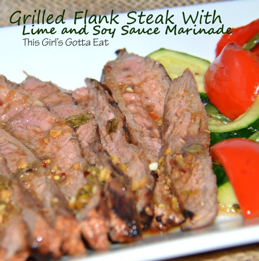 Grilled Flank Steak With Lime and Soy Sauce Marinade