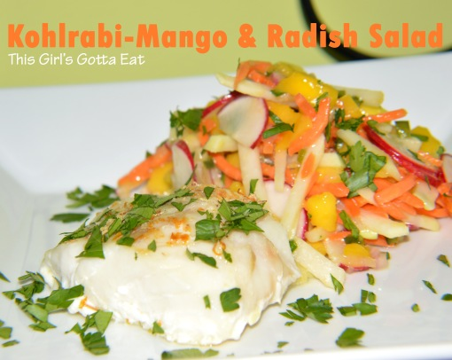 Kohlrabi-Mango and Radish Salad