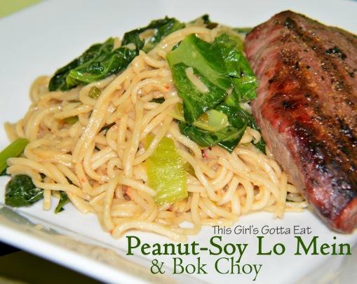 Peanut-Soy Lo Mein With Bok Choy