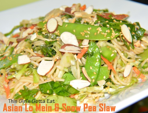 Asian Lo Mein and Snow Pea Slaw