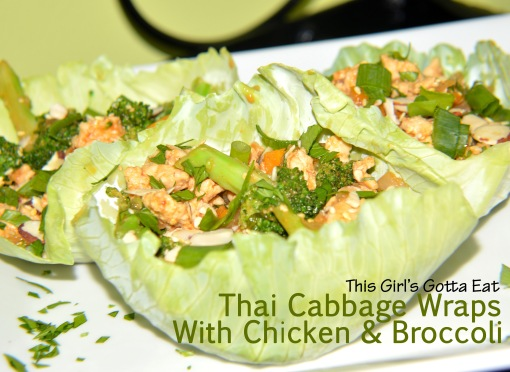 Thai Cabbage Wraps With Chicken and Broccoli
