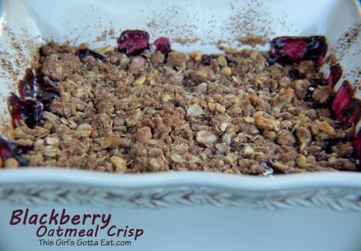 Blackberry Oatmeal Crisp