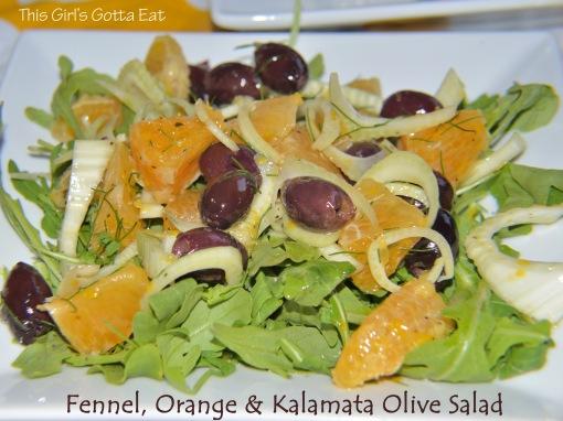 Fennel, Orange and Kalamata Olive Salad