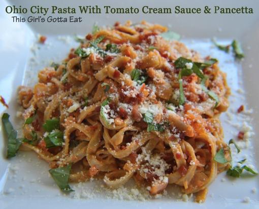 Ohio City Pasta With Pancetta and Tomato Cream Sauce
