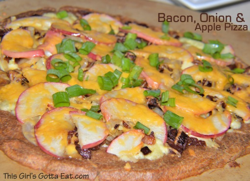 Bacon, Onion and Apple Pizza