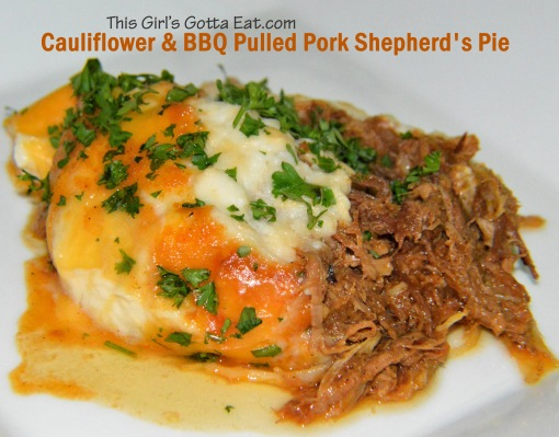 Cauliflower and BBQ Pulled Pork Shepherd's Pie