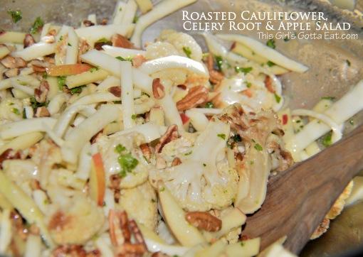 Roasted Cauliflower, Celery Root and Apple Salad