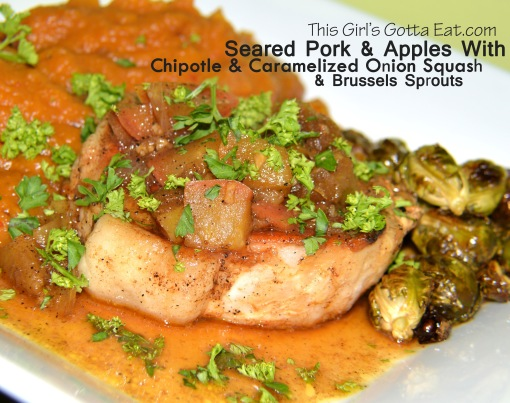 Seared Pork and Apples With Chipotle Squash