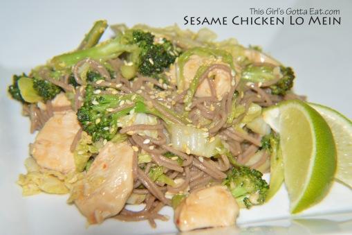 Sesame Chicken Lo Mein