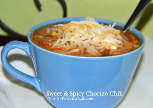 Sweet and Spicy Chorizo Chili