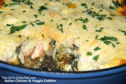 Italian Chicken and Veggie Cobbler