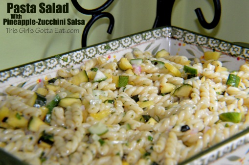 Pasta Salad With Pineapple-Zucchini Salsa