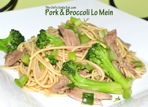 Pork and Broccoli Lo Mein