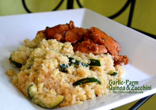 Garlic-Parm Quinoa and Zucchini