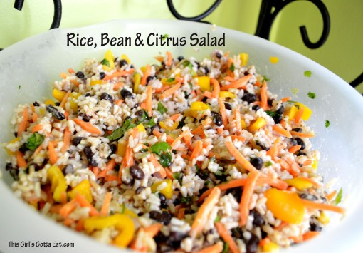 Rice Bean and Citrus Salad